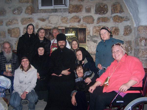 в монастыре