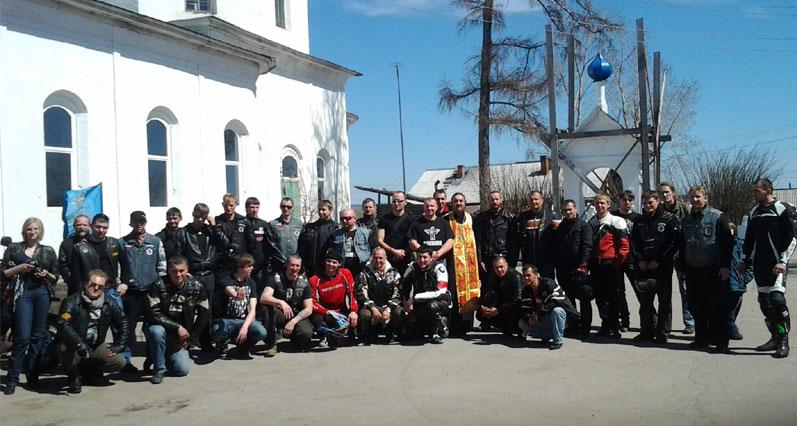 Молебен перед открытием байкерского сезона был отслужен в селе Хомутово