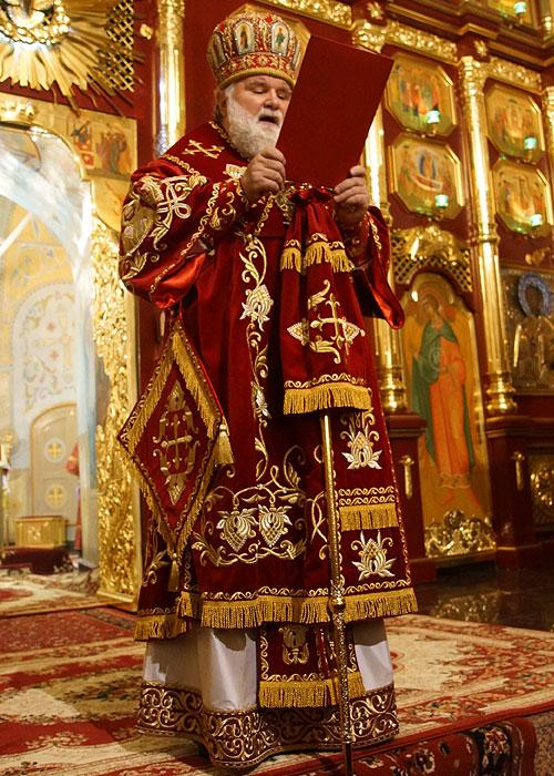 Пасхальное богослужение в Знаменском кафедральном соборе Иркутска