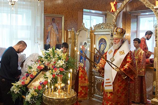 Архиерейское служение в храме Димитрия Донского 09.06.2013