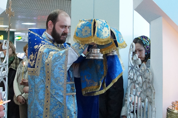 Престольный праздник в аэропорту Иркутск