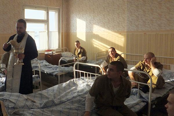 Окропление Крещенской водой военного госпиталя